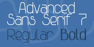 Advanced Sans Serif 7 illustration 1