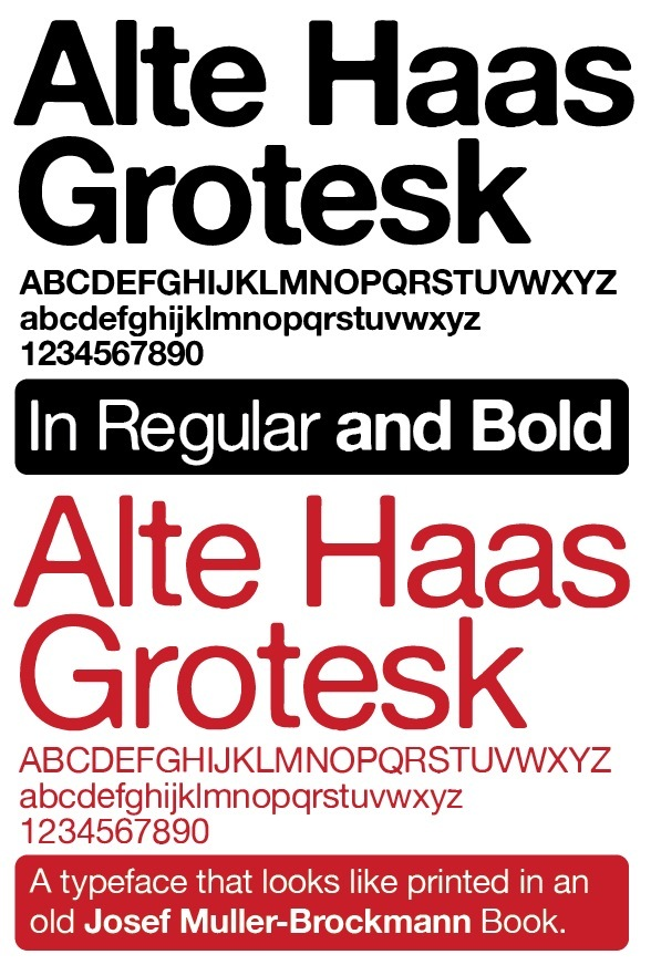 Alte Haas Grotesk illustration 1