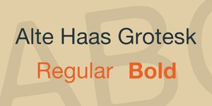 Alte Haas Grotesk illustration 2