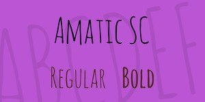 Amatic SC illustration 1