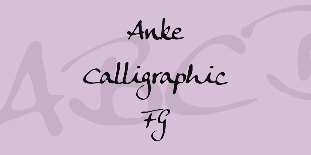 Anke Calligraphic FG illustration 1