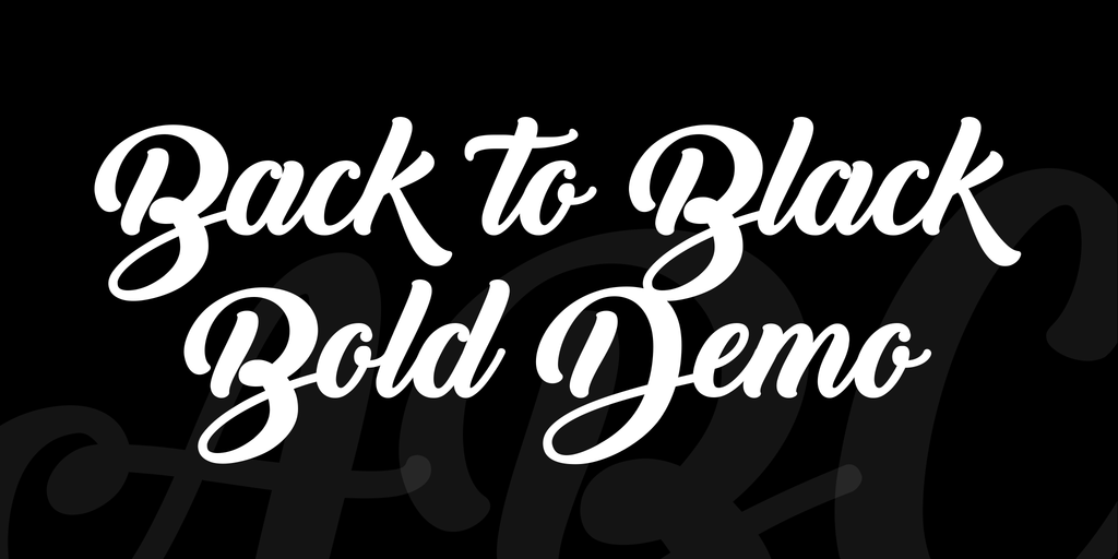 Back to Black Bold Demo illustration 2