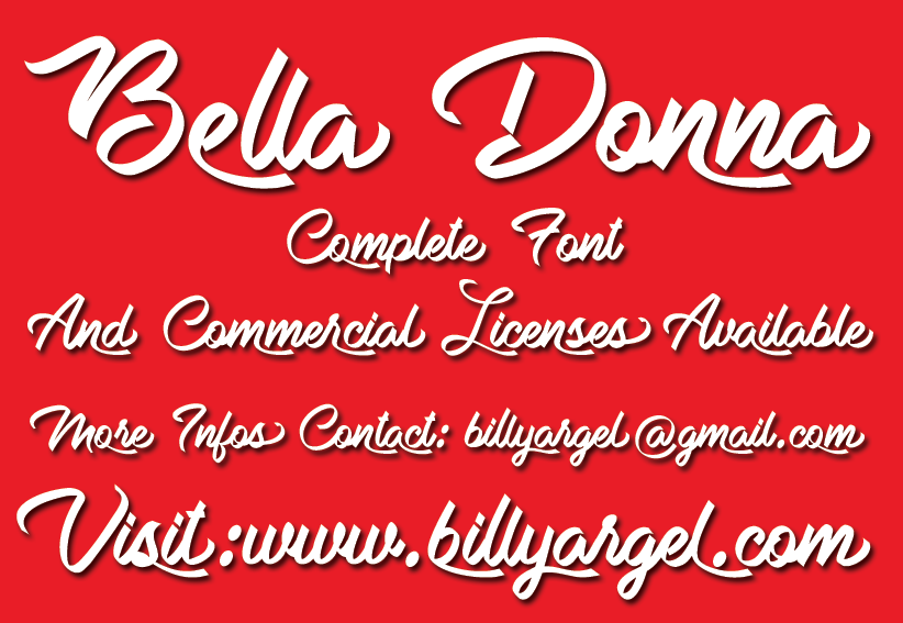 Bella Donna Personal Use illustration 1