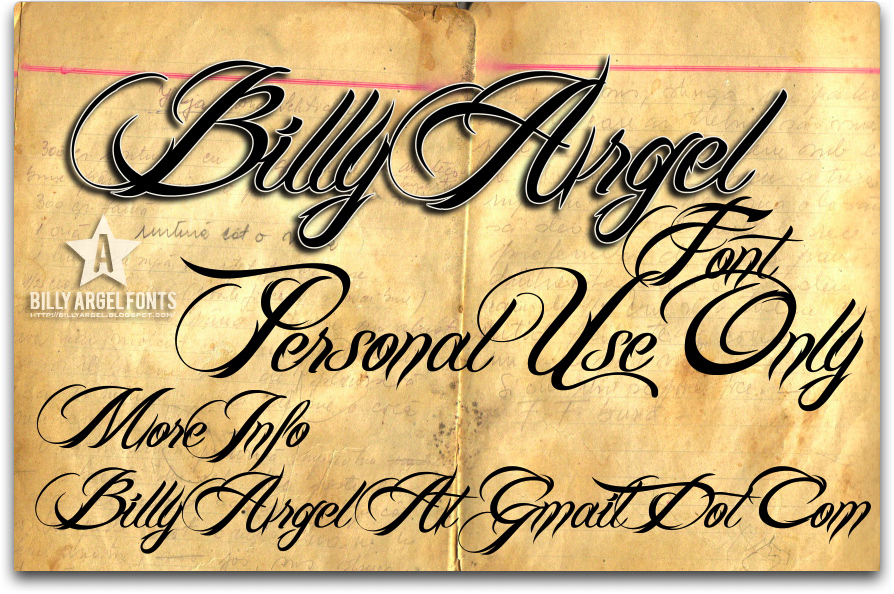 BILLY ARGEL FONT illustration 1