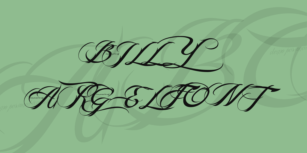 BILLY ARGEL FONT illustration 2