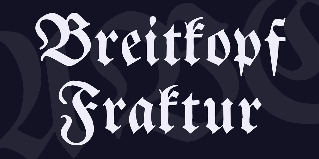 Breitkopf Fraktur illustration 1