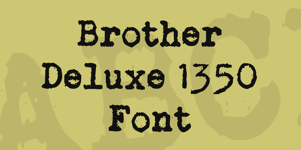 Brother Deluxe 1350 Font illustration 1