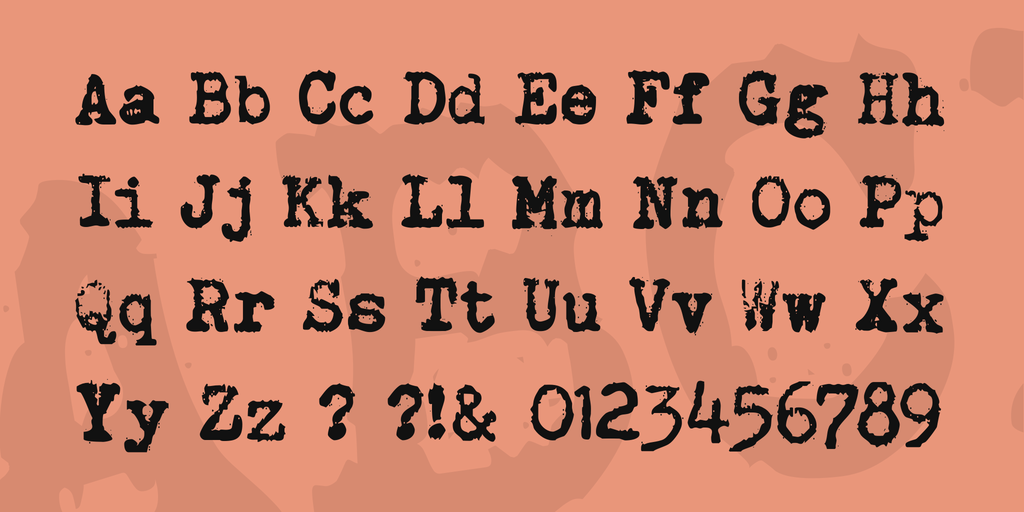 Brother Deluxe 1350 Font illustration 4