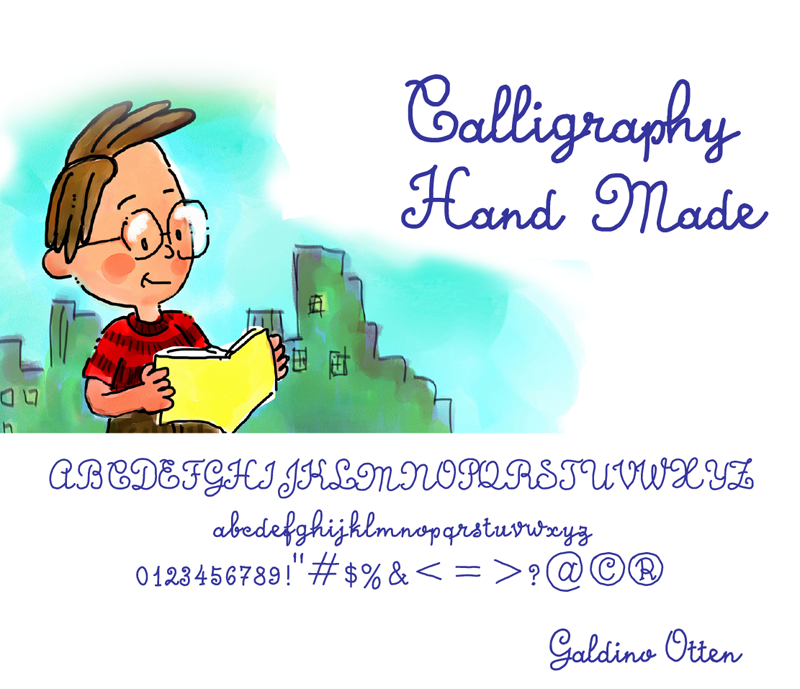 Calligraphy Hand Made illustration 1