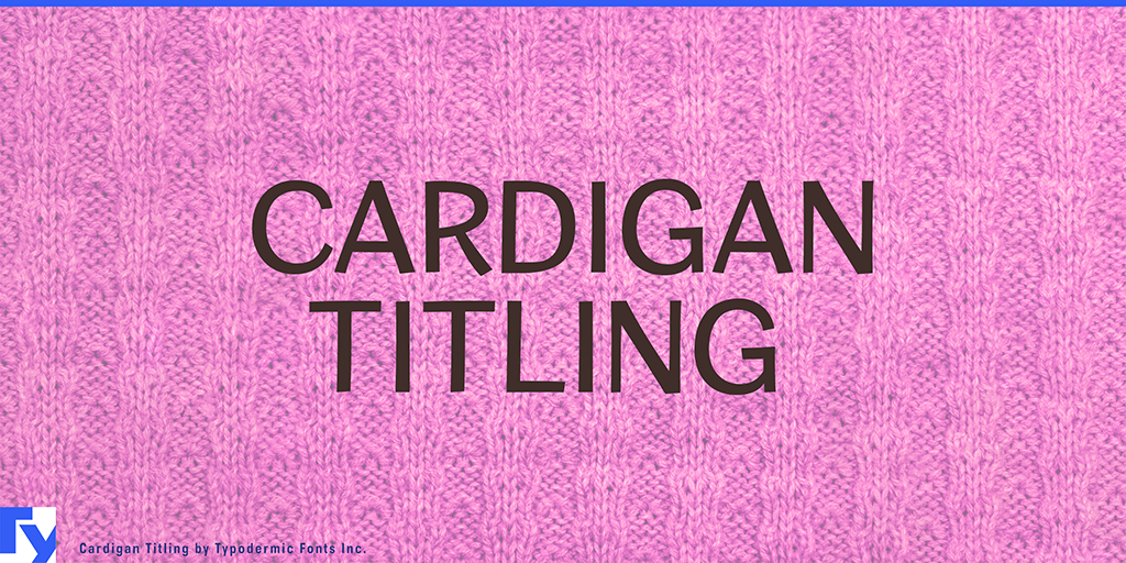 Cardigan Titling illustration 10