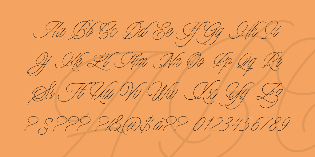 Charmline Script Personal Use illustration 4