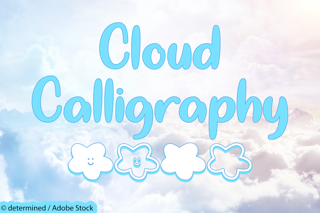 Cloud Calligraphy illustration 6