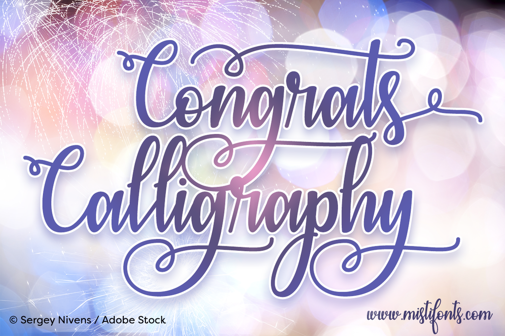 Congrats Calligraphy illustration 5