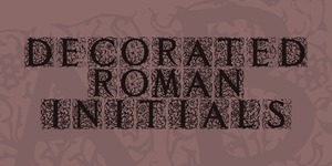 Decorated Roman Initials illustration 1