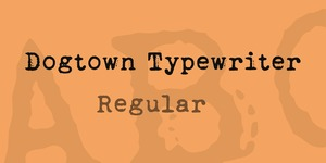 Dogtown Typewriter illustration 20