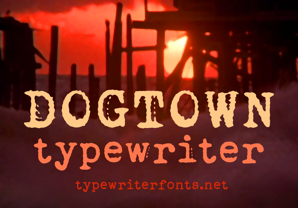 Dogtown Typewriter illustration 21