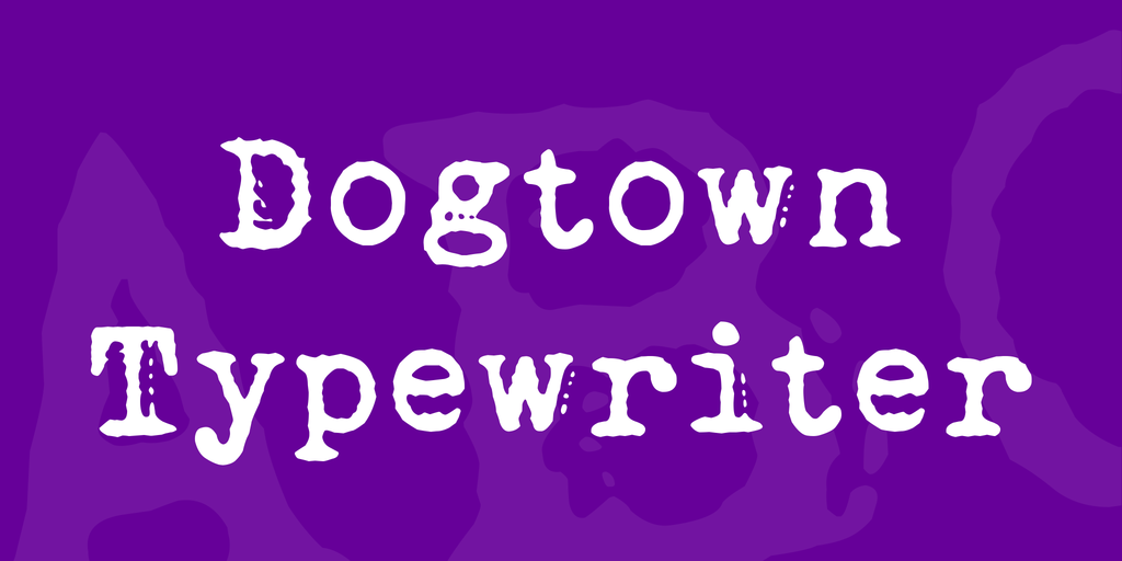 Dogtown Typewriter illustration 29