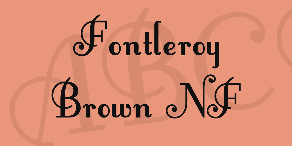 Fontleroy Brown NF illustration 1