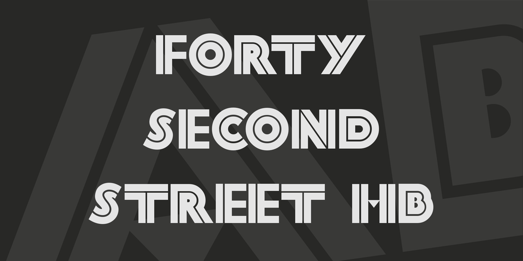 Forty Second Street HB illustration 1