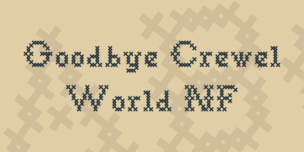 Goodbye Crewel World NF illustration 1
