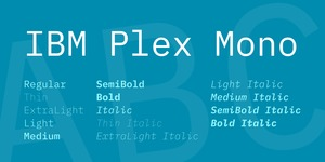 IBM Plex Mono illustration 1