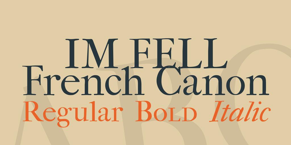 IM FELL French Canon illustration 1