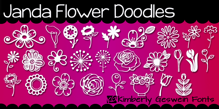 Janda Flower Doodles illustration 1