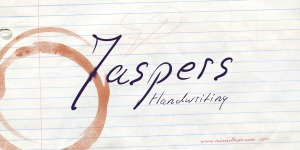 Jaspers Handwriting illustration 1