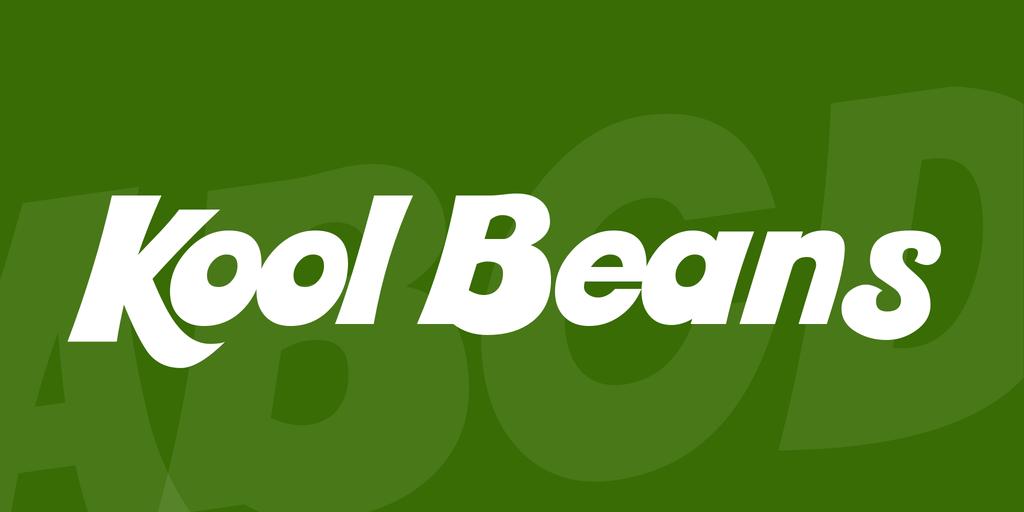 Kool Beans - Font Keren untuk Logo 2021