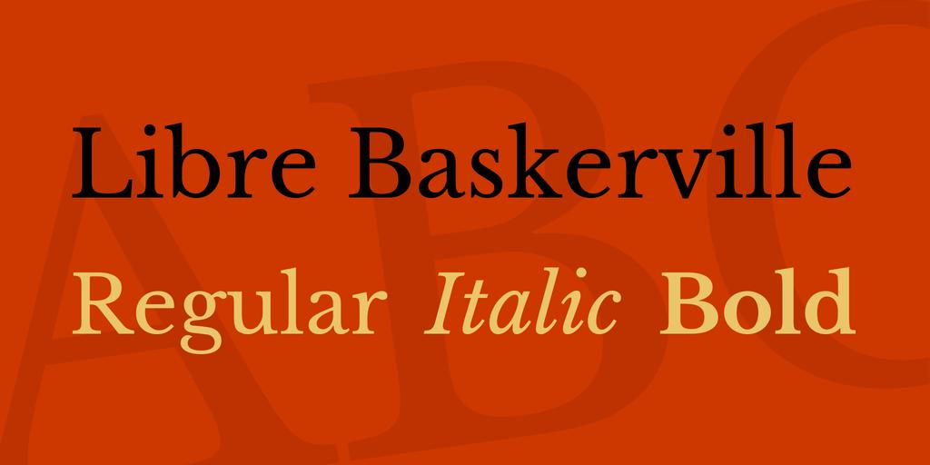 Libre Baskerville illustration 1