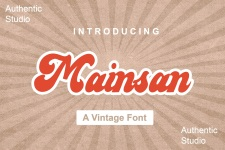 Mainsain Font illustration 6