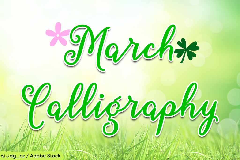 March Calligraphy illustration 6
