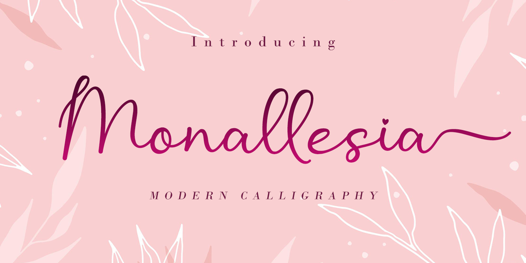 Monallesia Script illustration 1