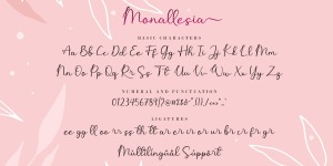 Monallesia Script illustration 3