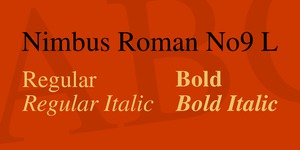 Nimbus Roman No9 L illustration 1