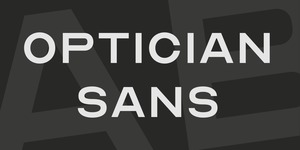 Optician Sans illustration 1