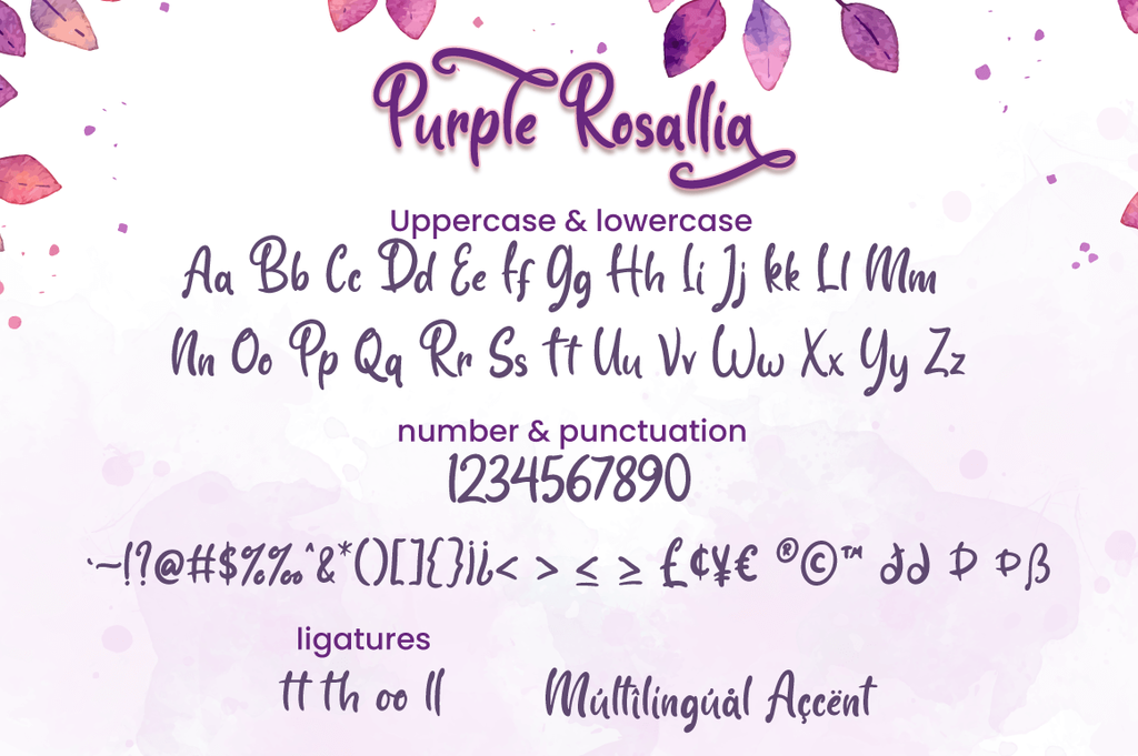 Purple Rosallia - Personal Use illustration 4