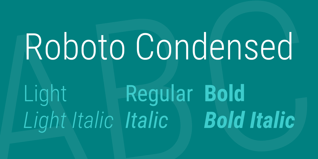 Roboto Condensed illustration 5