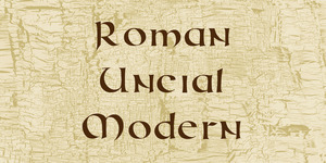 Roman Uncial Modern illustration 1