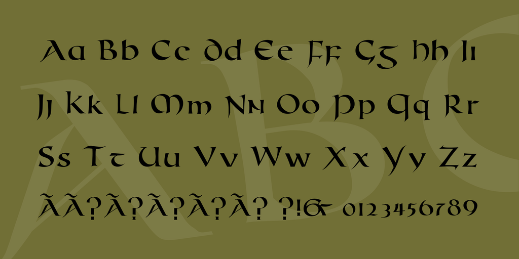 Roman Uncial Modern illustration 4