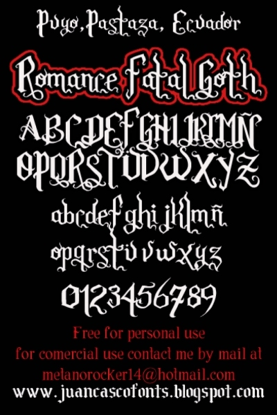 Romance Fatal Goth illustration 1