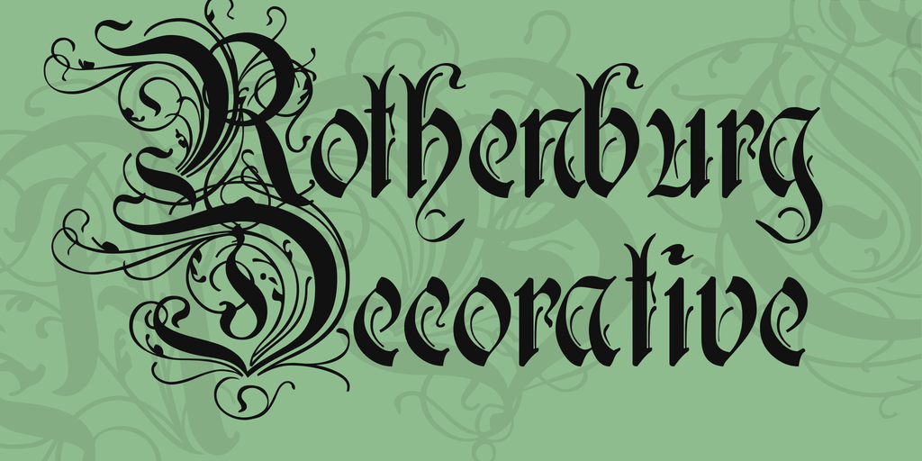Rothenburg Decorative illustration 1