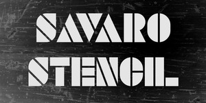SAVARO STENCIL illustration 2