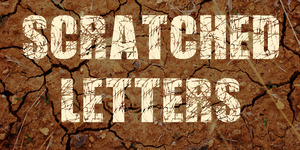 Scratched Letters illustration 1