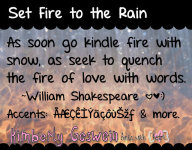 Set Fire to the Rain illustration 1