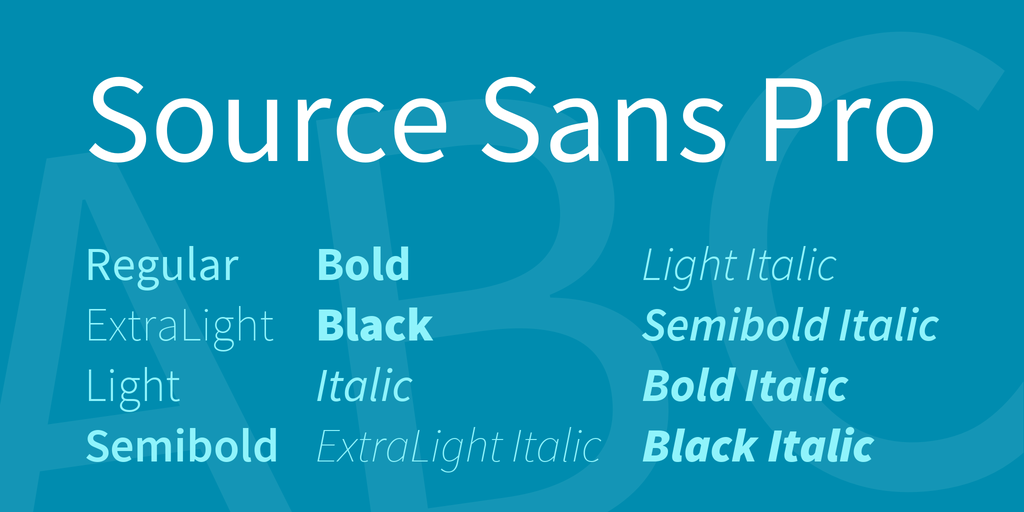 Source Sans Pro illustration 1