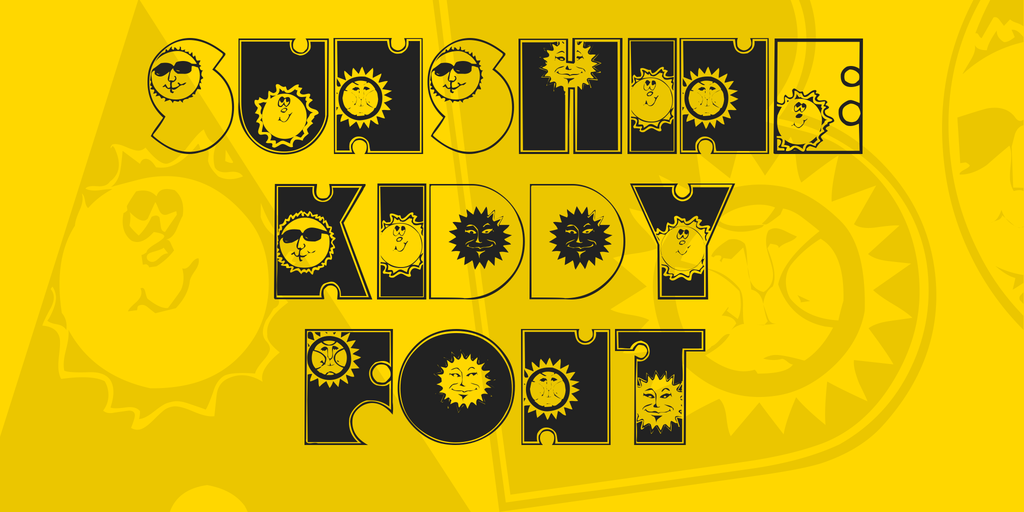 Sunshine Kiddy Font illustration 3