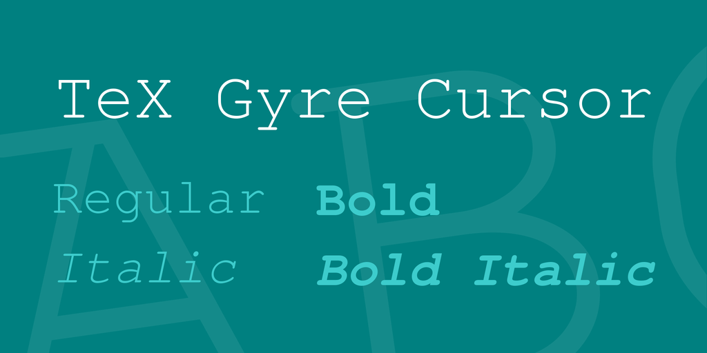 TeX Gyre Cursor illustration 1