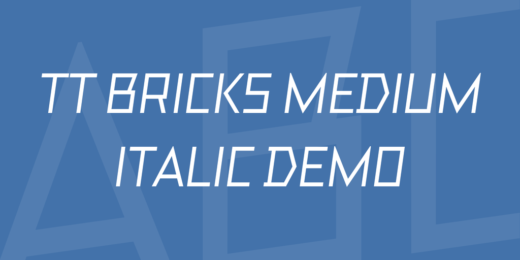 TT Bricks Medium Italic DEMO illustration 1