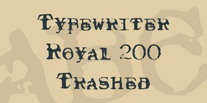 Typewriter Royal 200 Trashed illustration 1